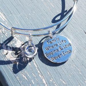 Jewelry - Family expandable charm bracelet, bangle
